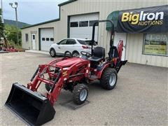 2017 Mahindra Emax 22G 4WD Compact Utility Tractor W/Loader & Backhoe