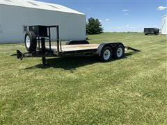 2005 Neal 12+2 5CR T/A Flatbed Trailer