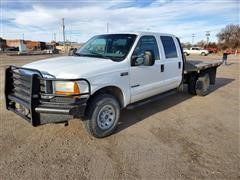 2001 Ford F350 4x4 Flatbed Pickup