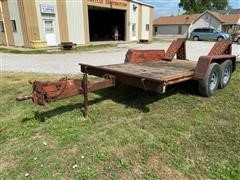 1988 DitchWitch T12A T/A Tilt Bed Flatbed Trailer