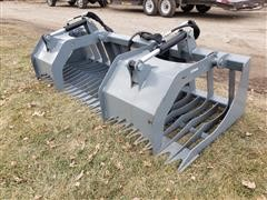 "2019 Hawz 84"" Wide Rock/Brush Grapple Skid Steer Attachment"