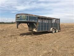 1985 TravAlong 6x18 Gooeneck T/A Livestock Trailer