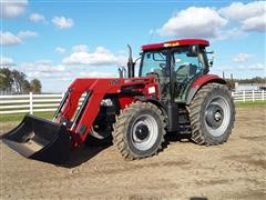 2011 Case IH Maxxum 140 Pro MFWD Tractor W/750 Loader