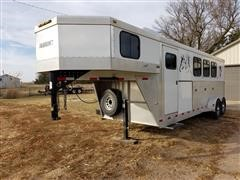 2004 Liberty Travalong - Outlaw 3 Stall T/A Livestock Trailer