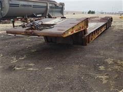 1973 Timpte Tri/A Folding Neck Lowboy Trailer