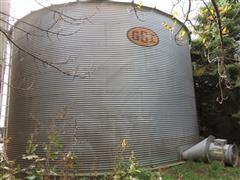 1998 G S I Grain Bin, Aeration Floor & Equipment