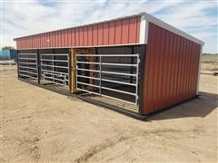 Larson Metal Inc Cattle Shed With Working Facility/Calving Pins