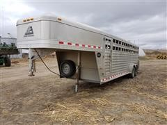 2014 Elite 7'X24' Gooseneck Livestock Trailer