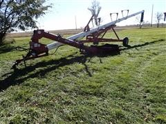 "Feterl 12""X62' Swing Hopper Auger W/Hopper Drive Wheel"