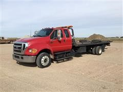 2007 Ford F650 XLT Super Duty Pro Loader Super Cab Roll Off Truck