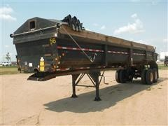 1996 Lufkin Hydraulic T/A End Dump Trailer