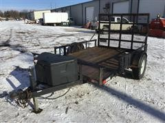 H&H 10' Flatbed Utility Trailer
