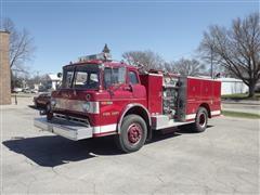 1977 Ford 8000 C/O Fire Pumper Truck