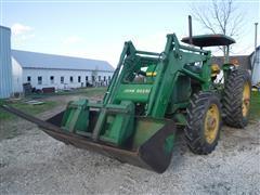 1981 John Deere 2940 MFWD Tractor W/JD 265 Self-Leveling Loader