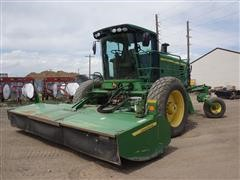 2010 John Deere R450/995 Self-Propelled Mower Conditioner W/Merger