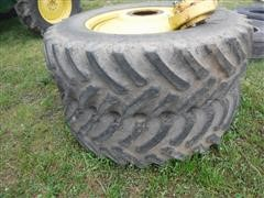 Titan 18.4R38 Bar Tires On John Deere Wheels