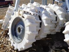 Mach II 11.2 X 24 Poly Pivot Tires W/Steel Rims