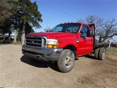 1999 Ford F350 Super Duty 4x4 Flatbed Dually Pickup