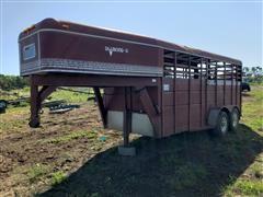 1989 Diamond D 6X16GN T/A Gooseneck Livestock Trailer
