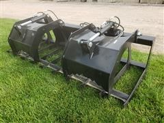 "2019 Brute 79"" Wide Brush Grapple Skid Steer Attatchment"