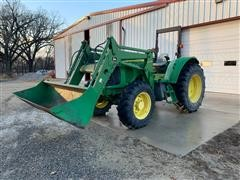 2006 John Deere 6215 MFWD Tractor W/John Deere 640 Quick Tach Loader