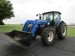 2011 New Holland T6050 Plus MFWD Tractor W/Loader