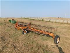 Rowse Pull Type Hydraulic Dump Hay Rake