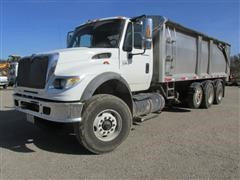 2007 International 7600 Tri/A Truck With Brehmer Aluminum Grain Box
