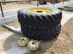 John Deere 18.4-38 Tires W/Rims & Hubs