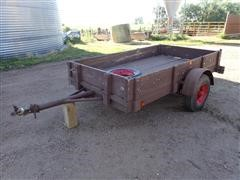 1989 Homemade 5X9 Two Wheeled Trailer