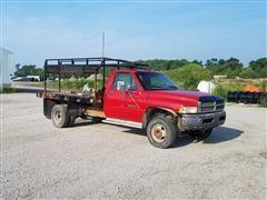 1997 Dodge Ram 3500 4x4 Flatbed Truck