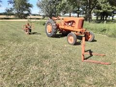Allis-Chalmers WD45 2WD Tractor W/Pallet Forks And Plow