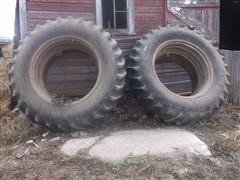 Firestone All Traction 23-18.4-38 Tractor Duals & Clamp-On Rims