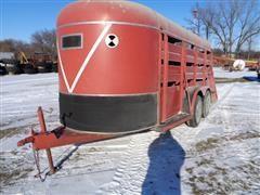 1980 Kiefer Built PT 16 Livestock Trailer