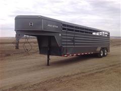 2007 K&O Pace Setter 24' Gooseneck T/A Livestock Trailer