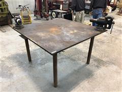 JB Custom 5x5 Heavy Duty Welding Table W/2 Vices