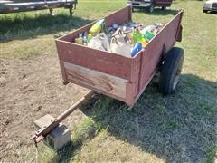 Homemade 2-Wheel Trailer & Contents