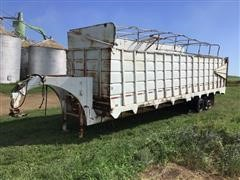 Shop Built T/A End Dump Silage Trailer