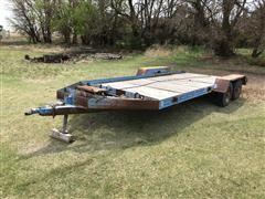 Shop Built T/A Flatbed Trailer