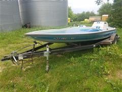 1984 Centurian 18' OIN Fiberglass Speed Boat w/Trailer