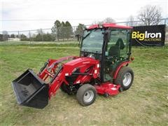 2016 Mahindra EXS254CHTLM EMax 25S MFWA Compact Utility Tractor W/Loader & Mower