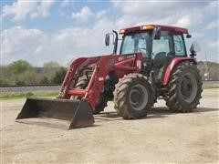 2004 Case IH JX1100U MFWD Tractor W/CIH LX252 Loader
