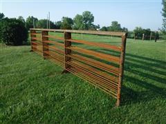 24' Long 5' Tall Heavy Duty Freestanding Livestock Panels