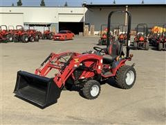 2016 Mahindra EMax 22L 4WD Compact Utility Tractor W/Loader