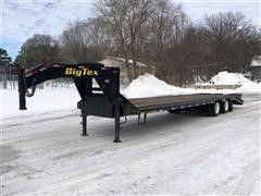 2011 Big Tex 3XGN-28+5 Super Duty 28'+5' Dovetail T/A Gooseneck Flatbed Trailer