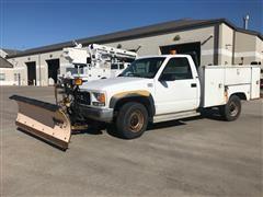 1996 GMC Sierra K2500 4X4 Service Truck W/ Snow Plow