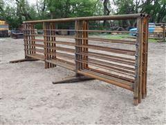 D&S Welding Tall Heavy Duty Freestanding Livestock Panel