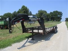 2005 Big Tex 12GP-20 T/A Gooseneck Flatbed Trailer