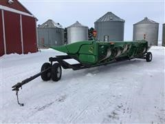2010 John Deere 608C Corn Head & Trailer