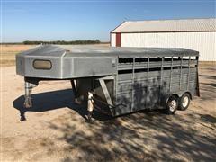 1995 Titan Challenger 16' T/A Livestock Trailer
